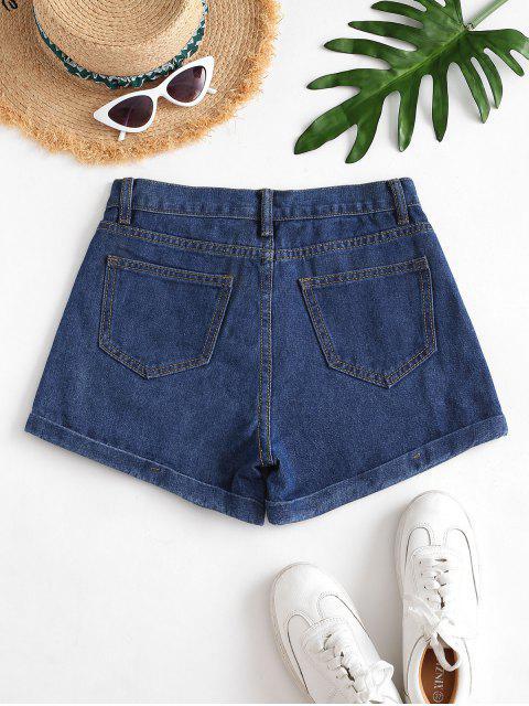 Pantalón Vaquero Shorts - Azul Oscuro de Denim S Mobile