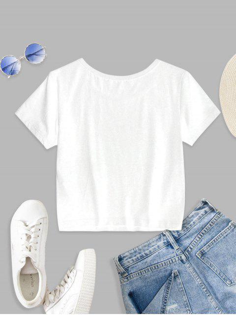 ZAFUL T-shirt Motif de Papillon à Manches Courtes - Blanc XL Mobile