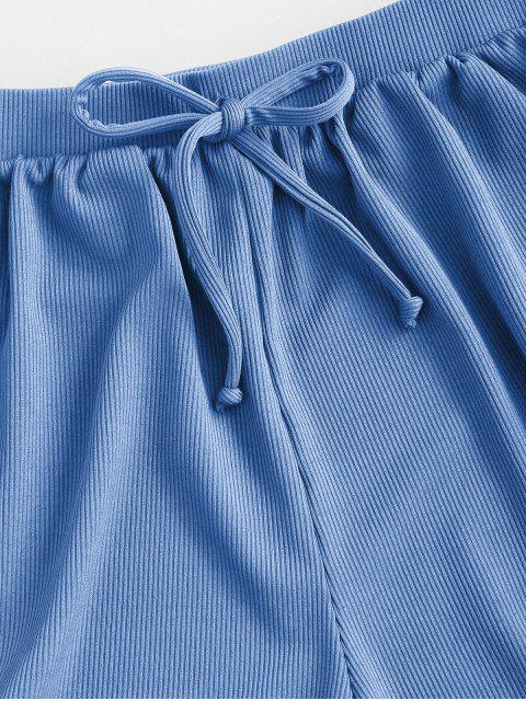 ZAFUL laço com Nervuras Sunga - Seda de Azul L Mobile