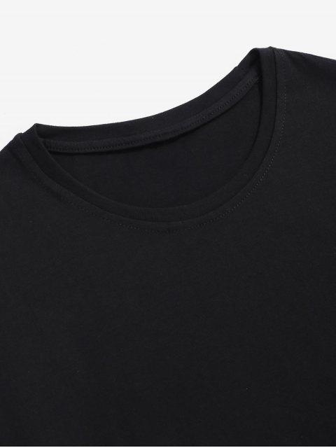T-Shirt con Grafica di Extraterrestre - Nero XL Mobile