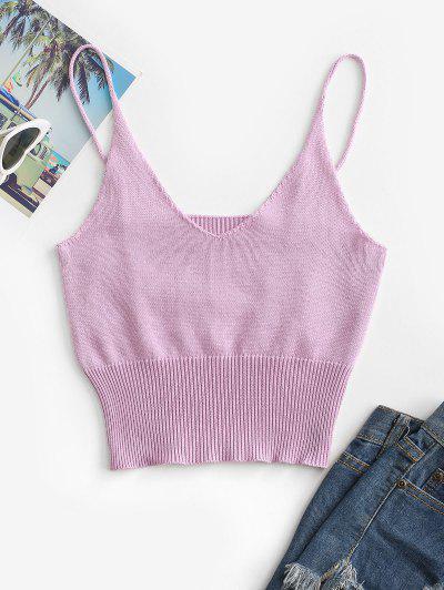 Knit Cami Top - Purple