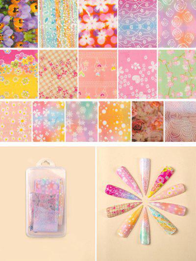 Flores Del Clavo Del Patrón De Transferencia De Belleza Papeles Conjunto - #007