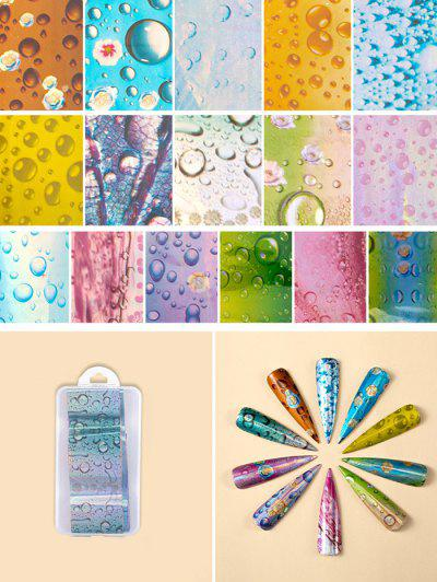 Flowers Pattern Nail Beauty Transfer Papers Set - #005