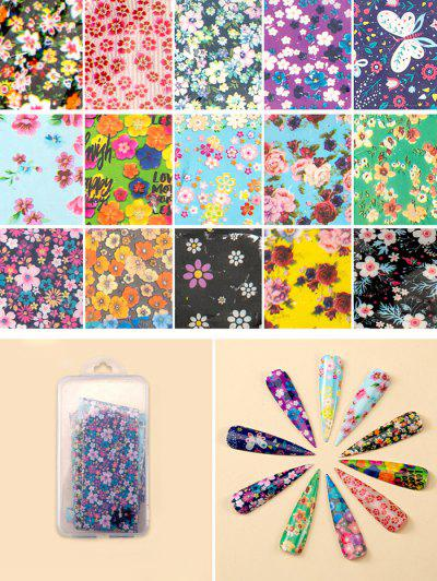 Flowers Pattern Nail Beauty Transfer Papers Set - #003