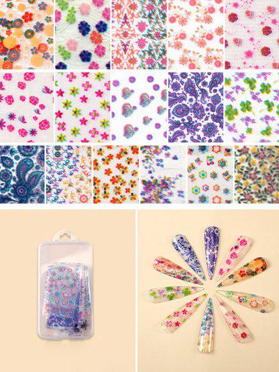 Flowers Pattern Nail Beauty Transfer Papers Set - #002