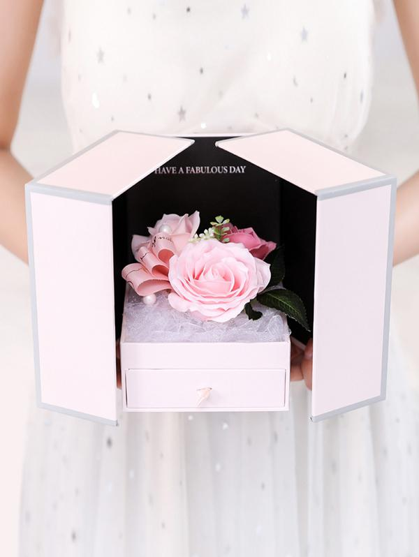 Valentine Mother's Day Soap Roses Flowers Gift Box
