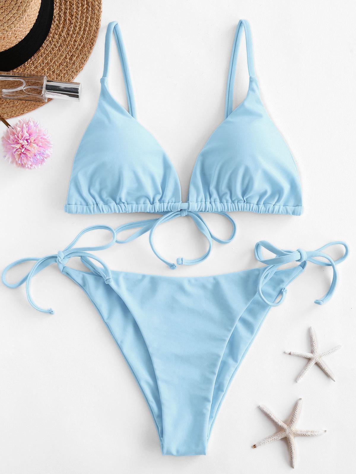 ZAFUL Tie String Bikini Swimsuit  - buy with discount