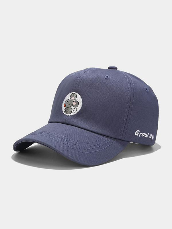 Mouse Embroidery Casual Baseball Cap
