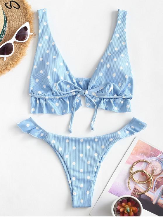 sale ZAFUL Dots Hunt Bikini - BLUE S