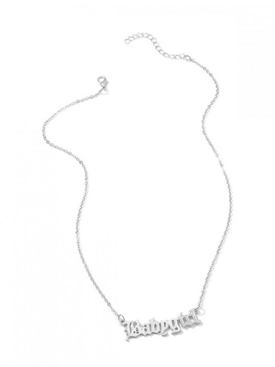 outfits Hollow Out Pendant Monogram Necklace - SILVER