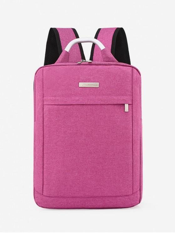 latest Solid Color Large Capacity Laptop Backpack - PINK