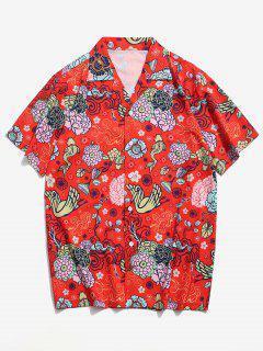 Camicia Grafica Per Vacanza - Rosso Xl