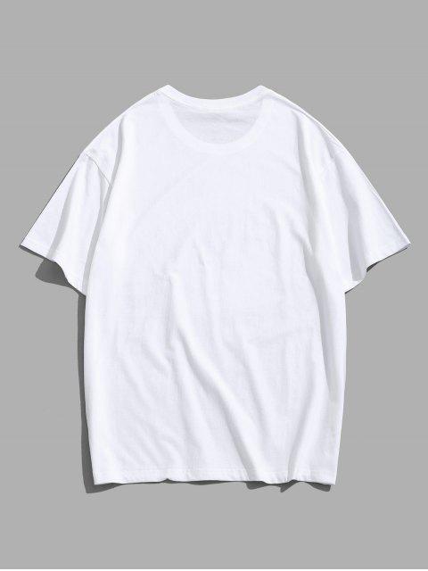 T-Shirt dos Desenhos Animados de Impressão Gráfica dos Desenhos Animados de Camisola Básico - Branco 3XL Mobile