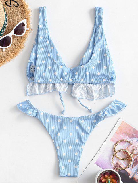 Bikini Ruvido di ZAFUL a Pois - Blu S Mobile