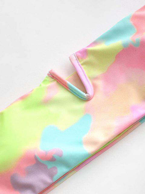 Costume da Bagno Bikini a Fascia di Tie-Dye di ZAFUL - Multi Colori-A S Mobile