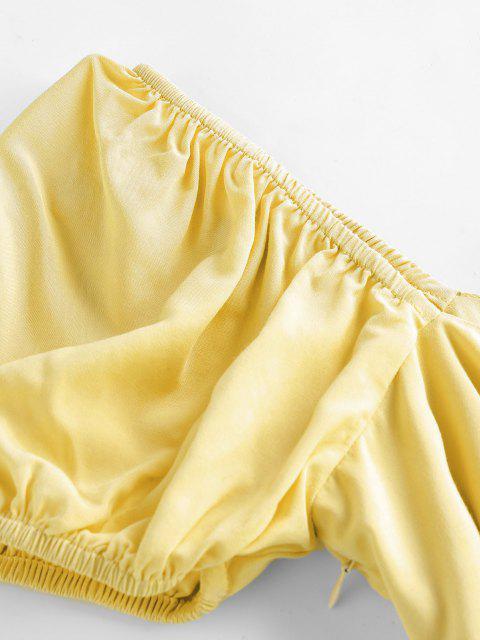 ZAFUL Vestido de Fiesta de Abertura de Nudo - Chifón de Limón S Mobile