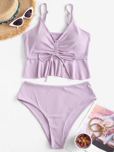 ZAFUL Jersey De Cintura Alta - Púrpura L