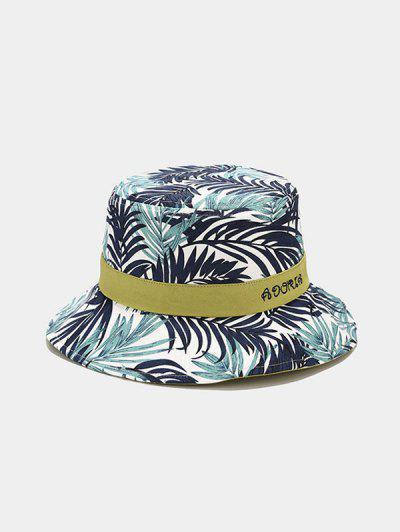Tropical Leaves Print Bucket Hat - Green