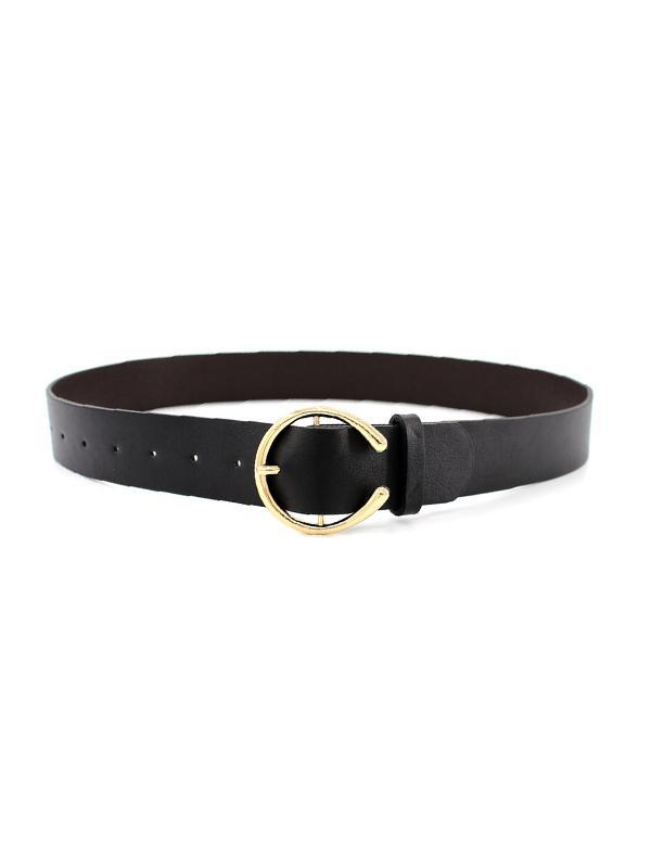 C-shape Buckle PU Leather Waist Belt
