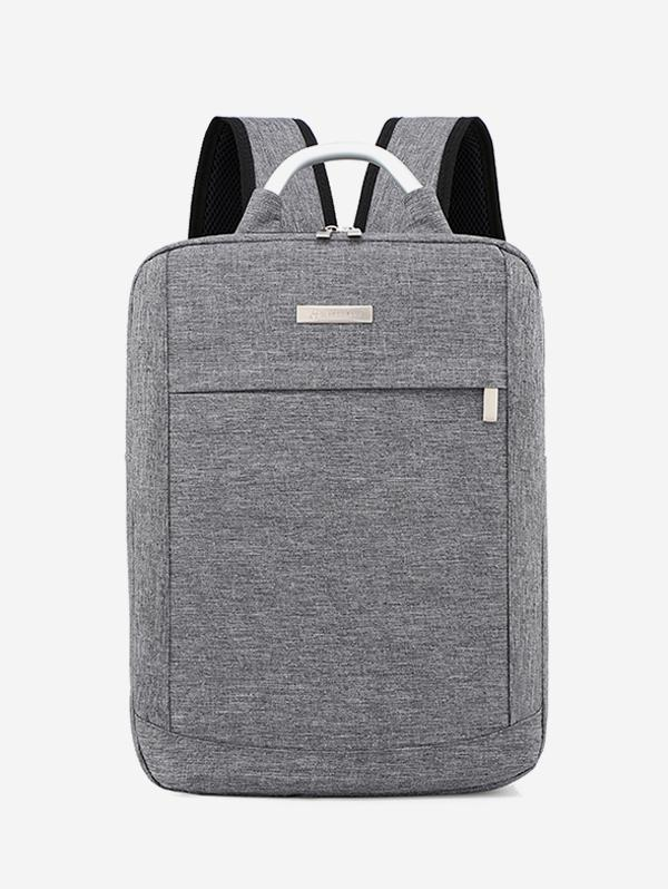 Solid Color Large Capacity Laptop Backpack