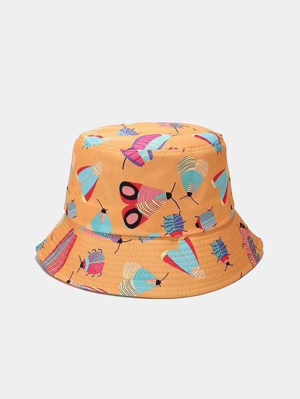 Cartoon Insect Print Cute Bucket Hat
