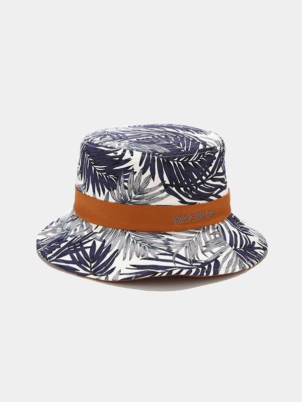 Tropical Leaves Print Bucket Hat