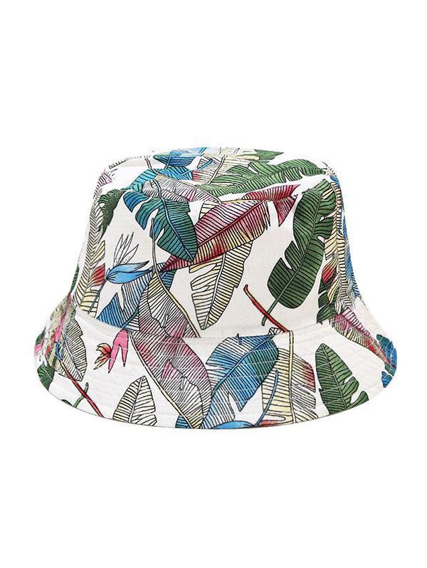 Tropical Leaf Pattern Bucket Hat