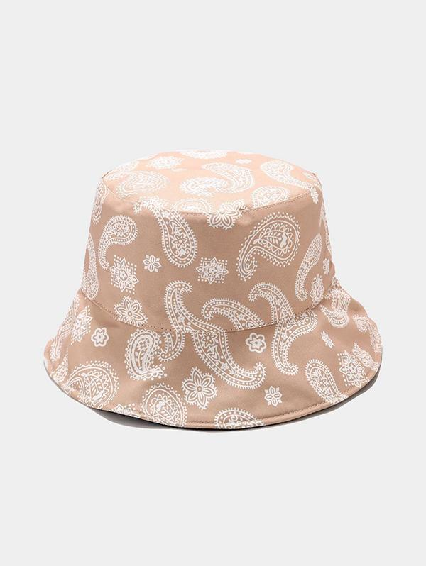 Paisley Print Casual Bucket Hat