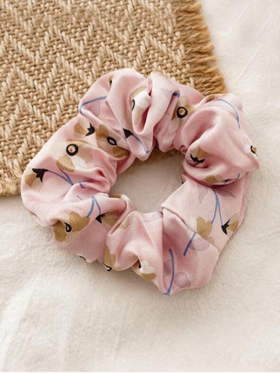 Floral Print elastice Fabric Scrunchy - Roz