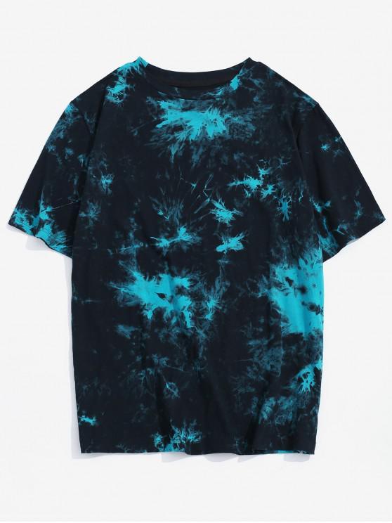 ZAFUL Tie Dye Print Round Neck Tee - متعددة-A S