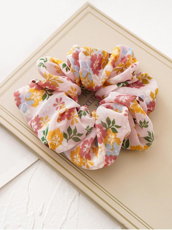 women's Tiny Flower Fabric Elastic Scrunchies - PINK