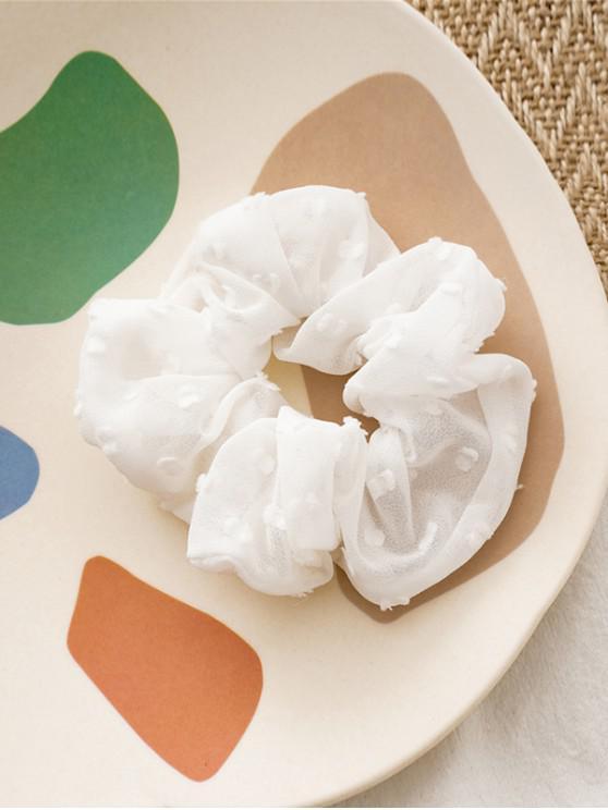 Reine Farbe Clip Tupfen Elastische Haargummi - Weiß
