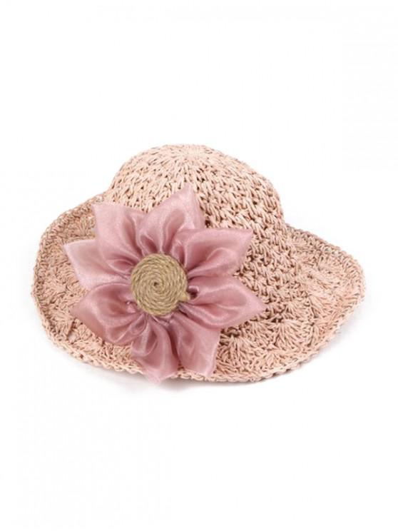 outfits Sunflower Parent-child Crochet Straw Hat - PIG PINK CHILDREN (50-53CM)