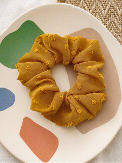 Pure Color Clip Dot Elastic Scrunchy - Yellow