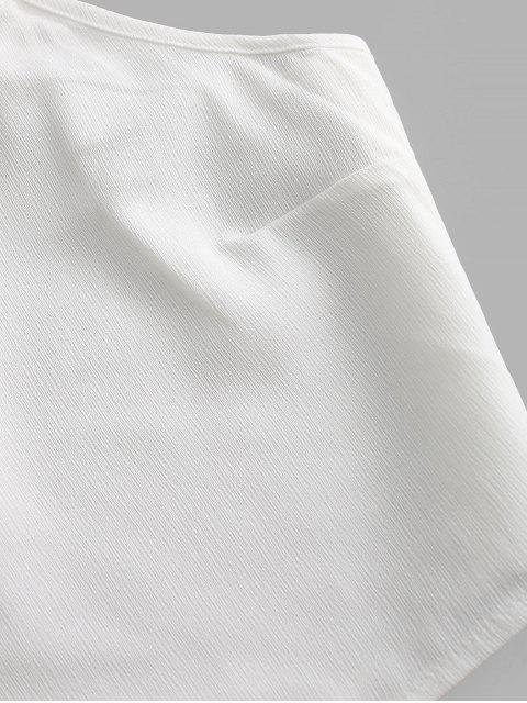 Conjunto de Duas Peças com Calcinha Listrada e Cintura Alta - Preto S Mobile