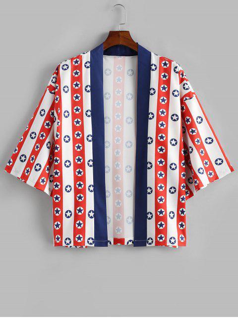 Chemise Etoile Imprimée à Manches Courtes - Blanc XL Mobile