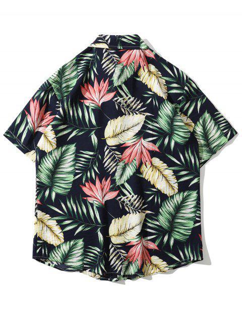 Hawaii Tropisches Blattruck Strand Hemd - Grün 2XL Mobile