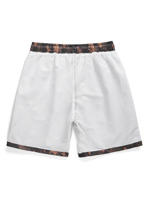 lady Letter Graphic Printed Casual Shorts - PUCE M Mobile