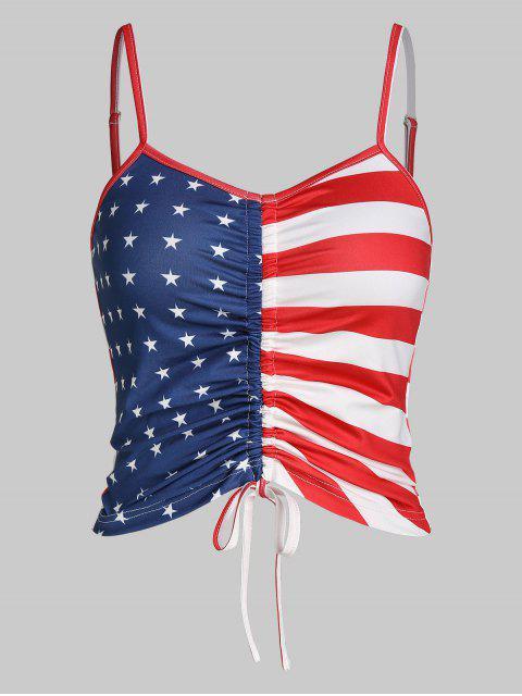 ZAFUL Camiseta de Colheita de Bandeira Americana Cortado - Multi-A XL Mobile