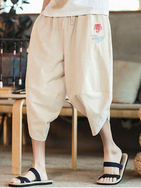 Chinesische Orientalische Kurze Hose - Beige 4XL Mobile