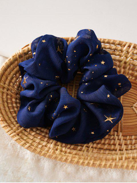 hot Gilding Star Elastic Fabric Scrunchies - CADETBLUE  Mobile