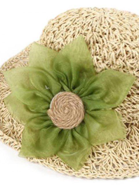 hot Sunflower Parent-child Crochet Straw Hat - WARM WHITE CHILDREN (50-53CM) Mobile