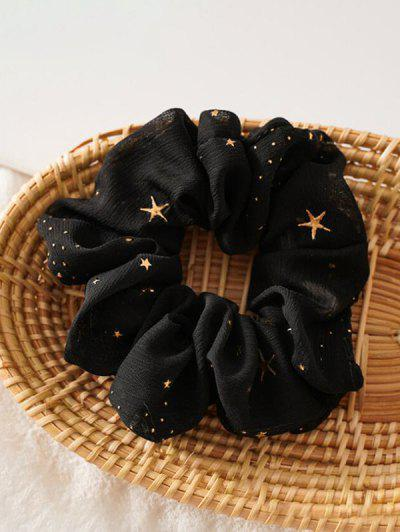 Gilding Star Elastic Fabric Scrunchies - Black