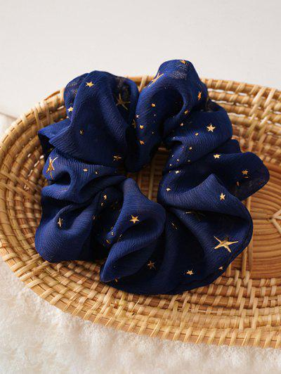 Gilding Star Elastic Fabric Scrunchies - Cadetblue