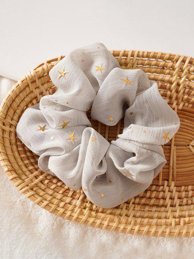 Gilding Star Elastic Fabric Scrunchies - Gray