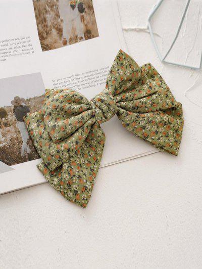 Ditsy Print Bowknot Hair Clip - Salad Green