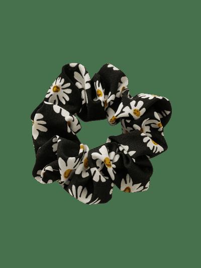 Daisy Flower Print Fabric Scrunchy