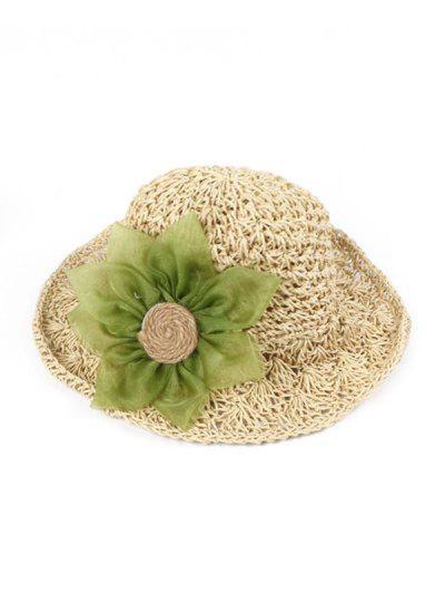 Sunflower Parent-child Crochet Straw Hat - Warm White Children (50-53cm)