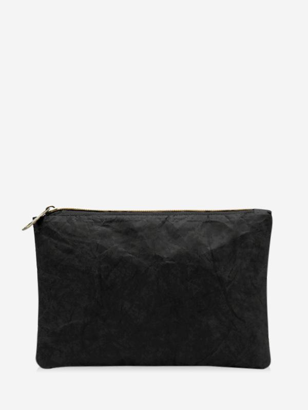 Plain Crinkle Paper Clutch Bag