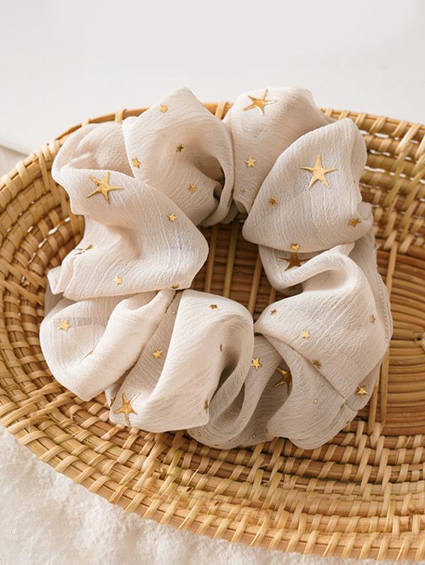 Gilding Star Elastic Fabric Scrunchies